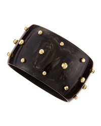 Studded Anga Bangle Dark Horn Ashley Pittman Horn Bronze
