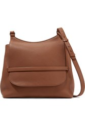 The Row Sideby Textured Leather Shoulder Bag Brown