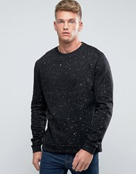 Asos Sweatshirt With Gold Speckle Print Black