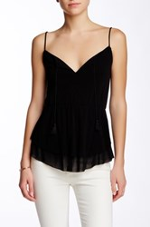 Weston Wear Flirty Tiered Cami Black