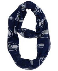 Forever Collectibles Seattle Seahawks All Over Logo Infinity Scarf Blue