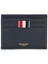 Thom Browne Airmail Print Compartment Cardholder Blue