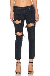 One Teaspoon Freebird Destroyed Skinny Fox Black
