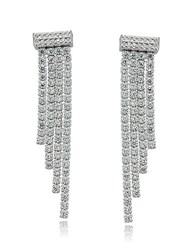 Lord And Taylor Sterling Silver Cubic Zirconia Waterfall Earrings