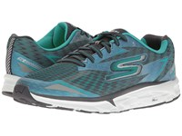 Skechers Go Run Forza 2017 Charcoal Teal Men's Running Shoes Gray