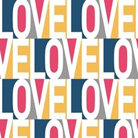 Tempaper Love Removable Wallpaper Pink Blue Yellow Cream