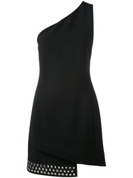 Barbara Bui Studded Hem Asymmetric Dress Black