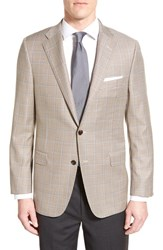 Men's Hickey Freeman Classic Fit Windowpane Wool Sport Coat