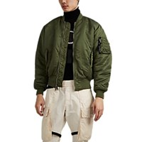 Alyx Relentless Thorn Crown Tech Twill Bomber Jacket Green