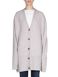 Acne Studios Oversized Cardigan Light Grey