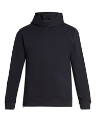 Vince Hooded Cotton Jersey Sweatshirt Blue