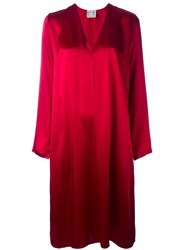 Forte Forte Satin Tunic Dress Red