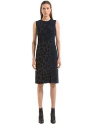 Salvatore Ferragamo Animalier Patchwork Cady Dress