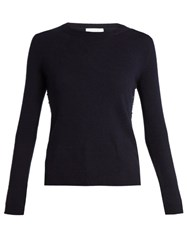 Valentino Rockstud Untitled 7 Cashmere Sweater Navy