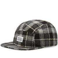 Norse Projects Tartan Check 5 Panel Cap Grey