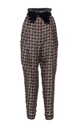 Philosophy Di Lorenzo Serafini High Waisted Printed Trouser Black