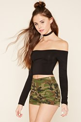 Forever 21 High Rise Camo Shorts