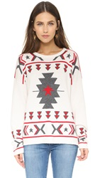 Banjo And Matilda Tribal Crew Neck Sweater Ivory