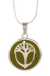 Alex And Ani Unexpected Miracles Pendant Necklace Green