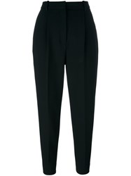 Alexander Mcqueen High Waisted Cigarette Trousers Black