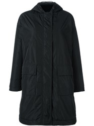 Aspesi Hooded Coat Black
