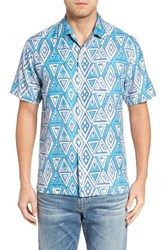 Tommy Bahama Men's Big And Tall Trio Geo Silk Blend Camp Shirt