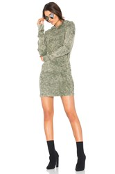 Cotton Citizen The Monaco Thermal Hoodie Mini Dress Green