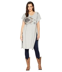 Double D Ranchwear Weaver Reflection Tunic Grey Whisper Clothing Gray