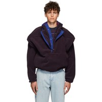 Y Project Purple Fleece Pop Up Sweater