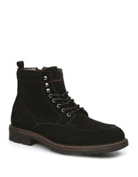 Bass Reston Suede Lace Up Boots Black