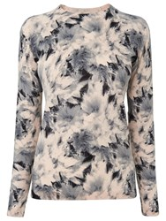 Whistles Suki Floral Crew Neck Jumper Nude Multi
