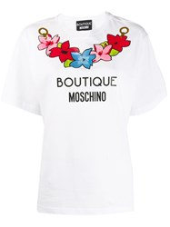 Boutique Moschino Floral Logo Print T Shirt 60
