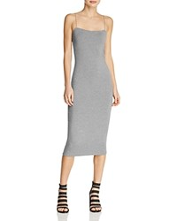 Alexander Wang T By Strappy Tank Dress Heather Gray