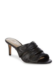424 Fifth Gala Leather Mules Black