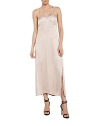 Bardot Cross Back Slip Dress Beige