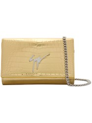 Giuseppe Zanotti Design Lory Clutch Calf Leather Metallic