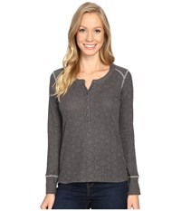 Kuhl Mia Thermal Carbon Swirl Women's Long Sleeve Pullover Gray