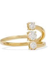 Melissa Kaye Aria Moon Small 18 Karat Gold Diamond Ring 6