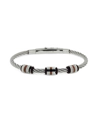Zoppini Manly Brown Pvd Stainless Steel Men's Bracelet Silver