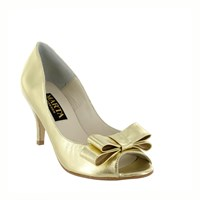 Marta Jonsson Women S Peep Toe Court Shoe Gold