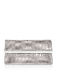 Issa Loula Diamante Embellished Clutch Silver