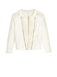 Supertrash Jarida Lace Bomber Jacket White White