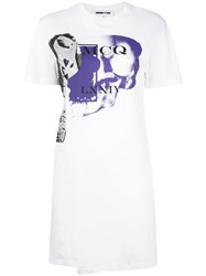 Mcq By Alexander Mcqueen Logo Print T Shirt Dress White