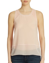 French Connection Sheer Detail Tank Top Deco Blush