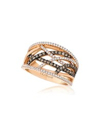 Le Vian Chocolatier Diamond Braided Wide Band 0.79Tcw Gold