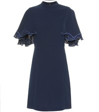 See By Chloe High Neck Minidress Blue