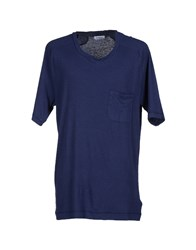 M.Grifoni Denim Topwear T Shirts Men Dark Blue