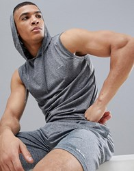 French Connection Sleeveless Hoodie Grey