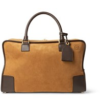 Loewe Amazona 44 Leather Trimmed Suede Holdall Brown
