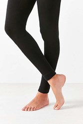 Urban Outfitters Faux Fur Lined Cozy Footless Tight Washed Black